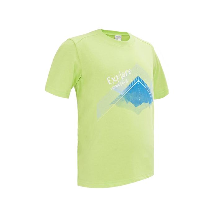 Children's Hiking T-shirt MH100 - Green 7-15 YEARS
