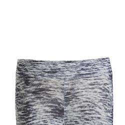 Warme legging synthetisch ademend S500 meisjes GYM KINDEREN grijs AOP
