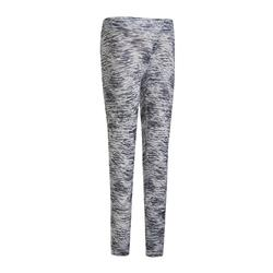 S500 Girls' Breathable Synthetic Gym Leggings - Grey