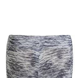 女童透氣合成材質健身緊身褲S500 - 灰色
