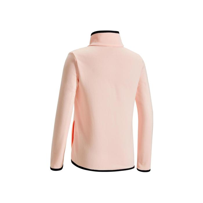 S500 Girls' Warm Breathable Synthetic Gym Jacket - Pink