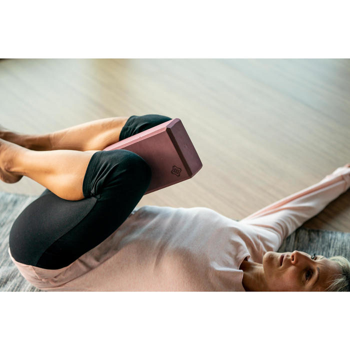 Schuimrubberen yogablok bordeaux