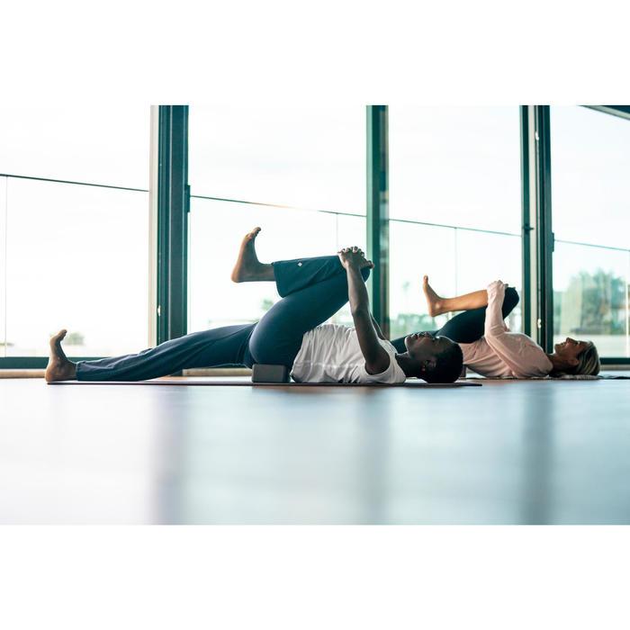 Damesbroek in biokatoen voor zachte yoga marineblauw