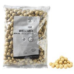 Boilies voor karpervissen Wellmix 14 mm witte chocolade 1 kg