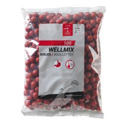 Boilies Wellmix 14 mm Erdbeere 1 kg Karpfenangeln