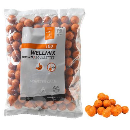 Бойли Wellmix для ловлі коропа, 20 мм, 1 кг - Полуниця