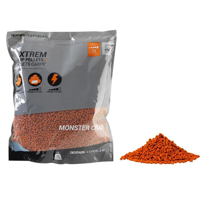 Pellets voor karperhengelen Xtrem Carp Pellets 3 kg 4 mm Monstercrab