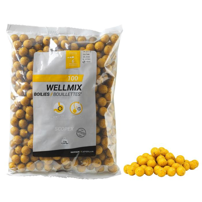 Boilies pesca de la carpa Wellmix Scopex 14 mm 1 kg