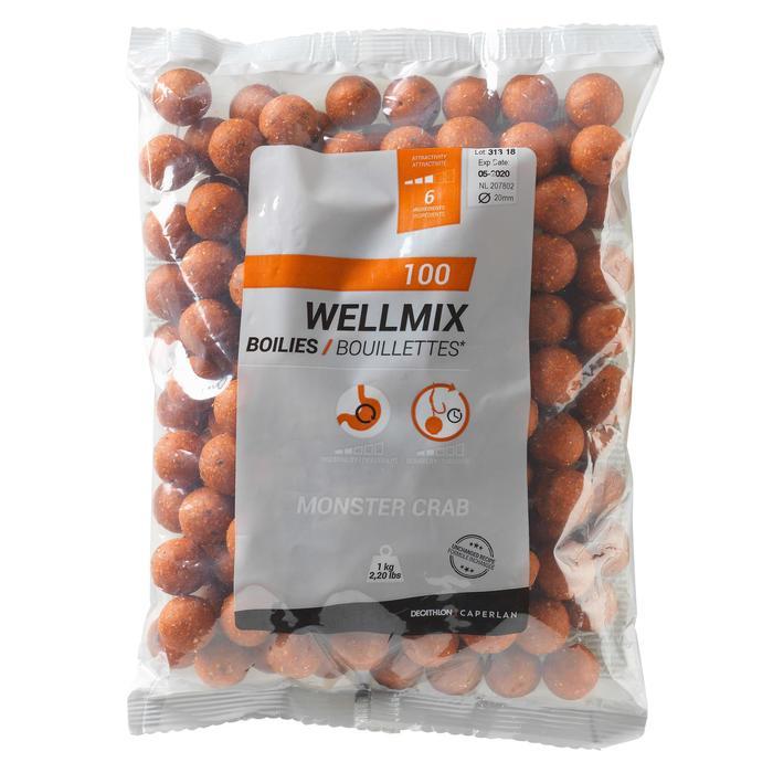 Boilies voor karpervissen Wellmix aardbei 1 kg
