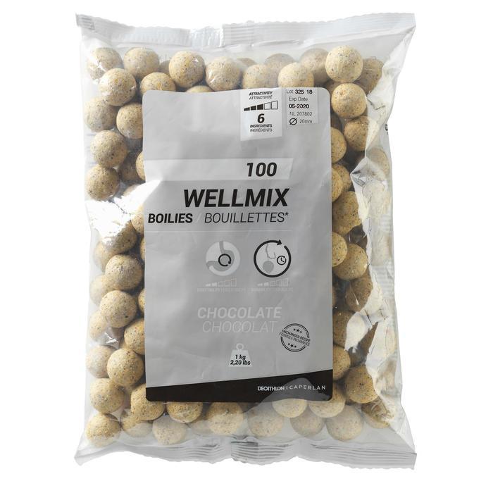 Wellmix Boilies Weiße Schokolade 20 mm 1 kg