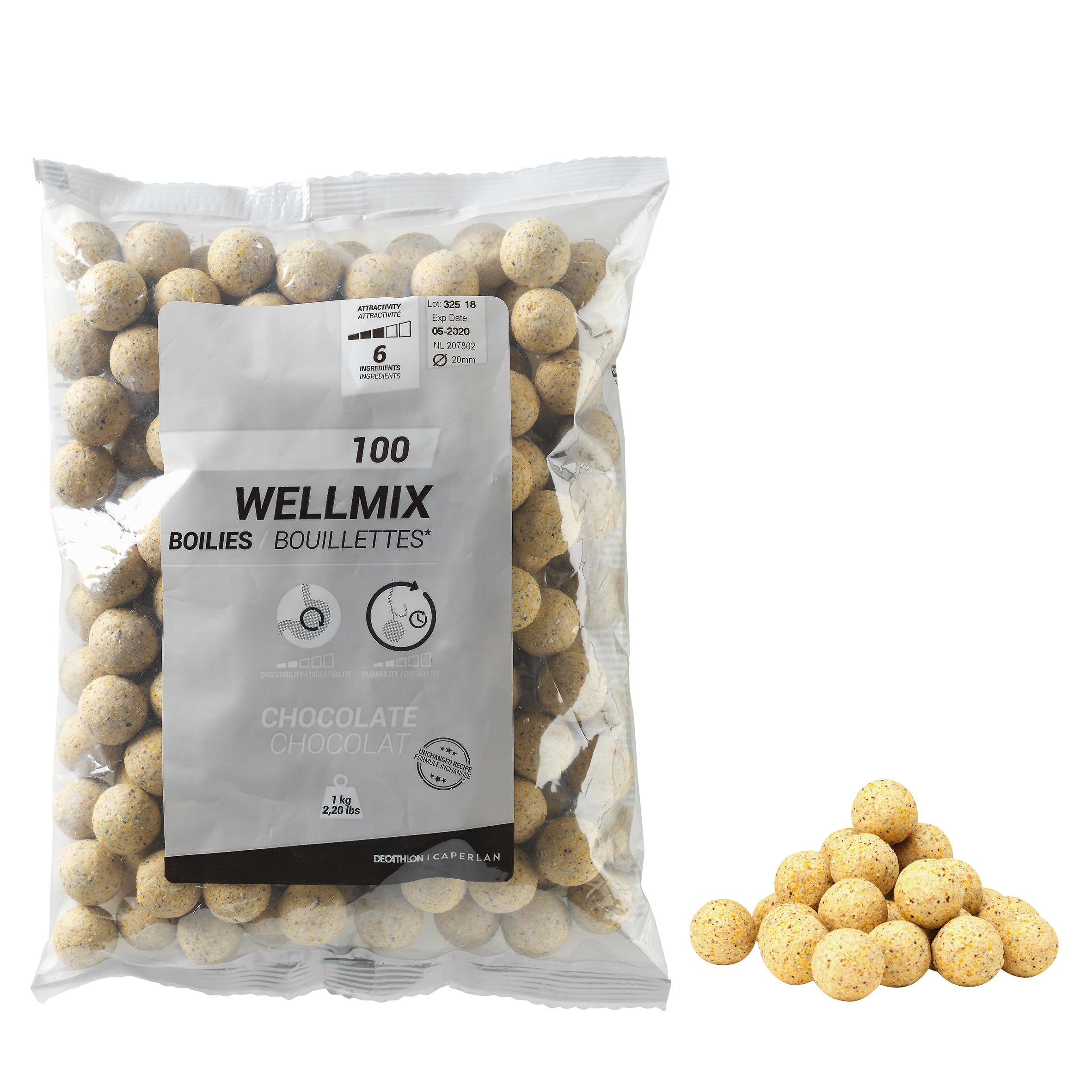 WELLMIX 20 MM WHITE CHOCOLATE CARP FISHING BOILIE