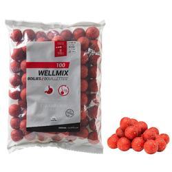 bouillettes pêche de la carpe wellmix 24mm fraise 1 kg
