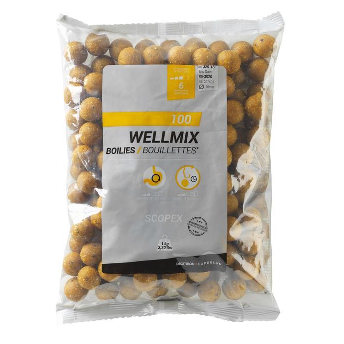 Boilies voor karpervissen Wellmix Boilies 20 mm aardbei 1 kg
