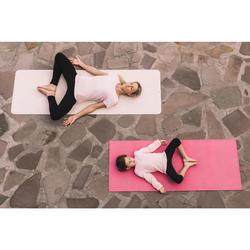 Tapis de yoga caoutchouc naturel / jute 4 mm beige