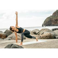 Naadloze 7/8-legging voor yoga zwart / zilver