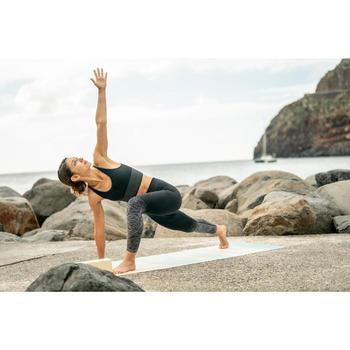 Top Sujetador Deportivo Yoga Dinámico Domyos 500 Mujer Negro Sin Costuras