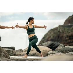 Top Sujetador Deportivo Yoga Domyos 500 sin costuras Mujer Verde