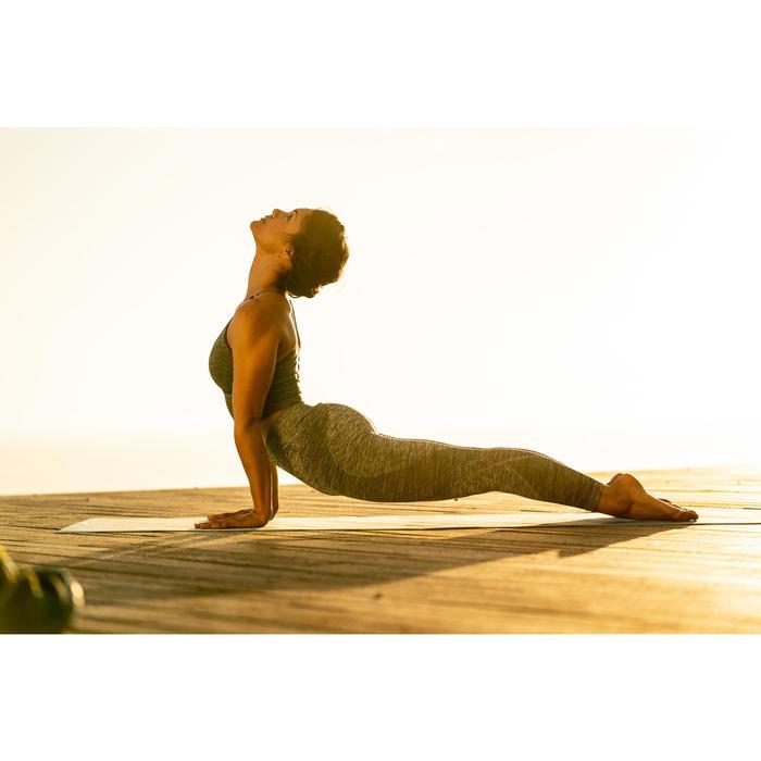 7/8-Leggings Yoga nahtlos grau meliert
