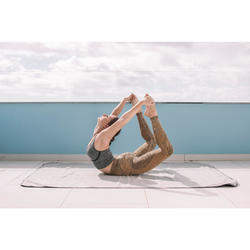Top Sujetador Deportivo Yoga Dinámico Domyos 500 Mujer Gris Sin Costuras