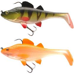 Set Gummiköder Shad Perch RTC 130 Barsch/orange Spinnfischen