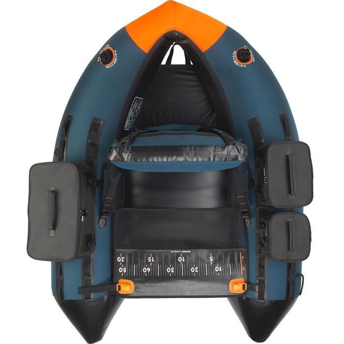 FLOAT TUBE PARA PESCA COM AMOSTRAS FLTB-5 AZUL/LARANJA