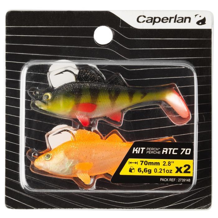 Softbait shad voor kunstaasvissen Set Perch RTC 70 baars / oranje