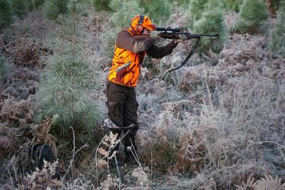Trépied chasse télescopique camouflage marron