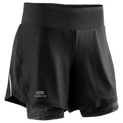 DRY+ 2 IN 1 WOMEN'S RUNNING SHORTS - BLACK