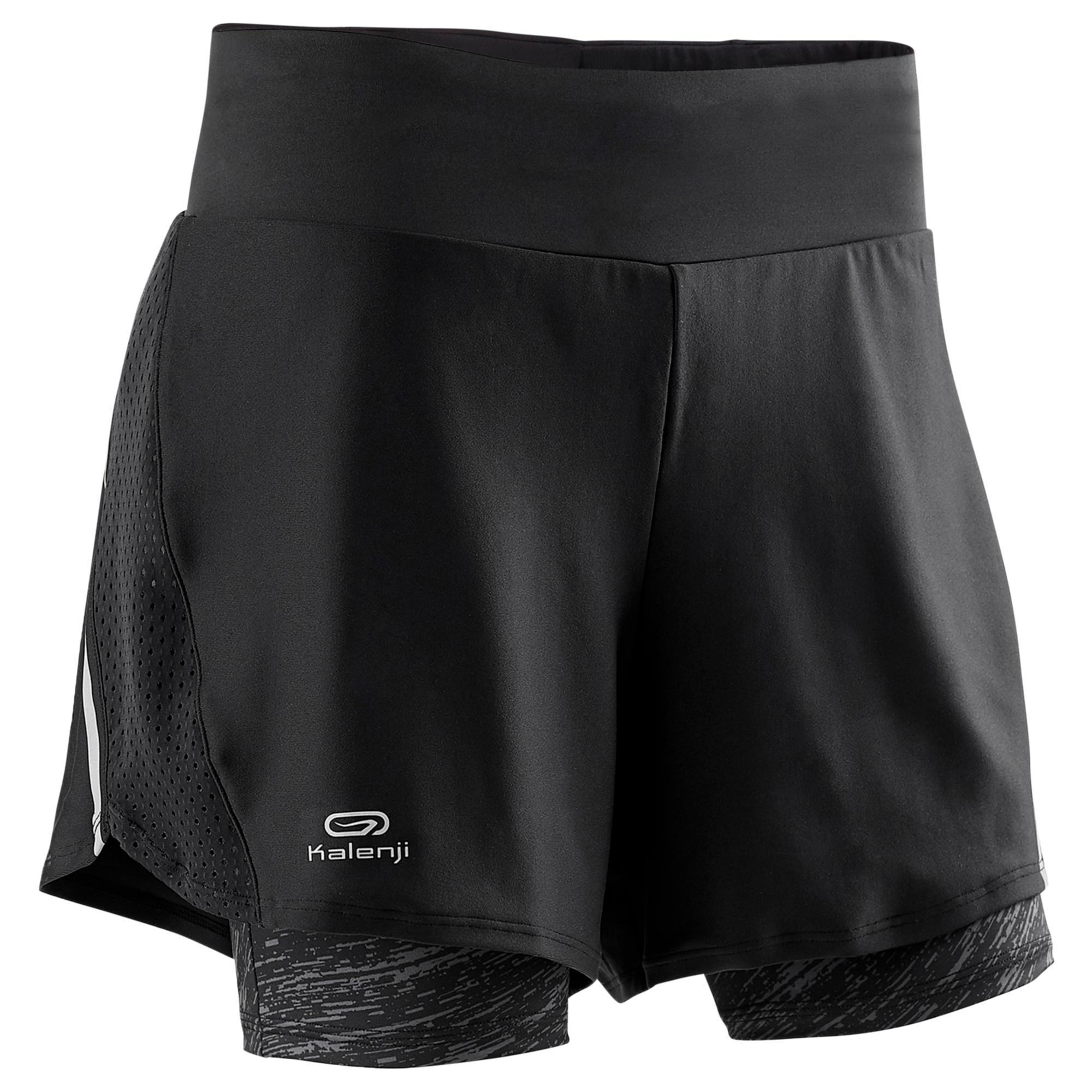 Kalenji Joggingshort voor dames Run Dry+ 2 in 1