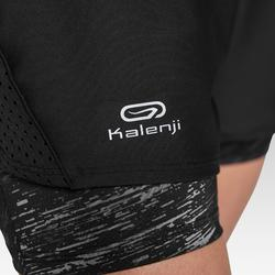 Laufshorts Run Dry+ 2 in 1 Damen schwarz