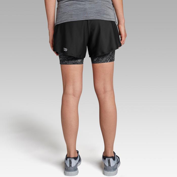 Hardloopshort voor dames Run Dry+ 2-in-1 zwart