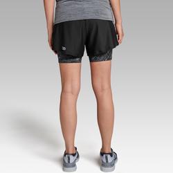 Laufshorts Run Dry+ 2 in 1 Damen schwarz