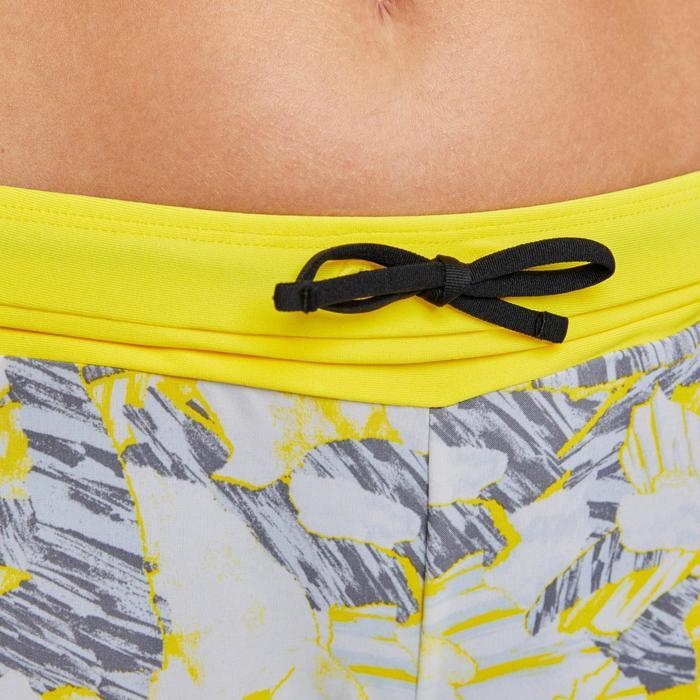 Joggingshort voor dames Run Dry print grijs/geel