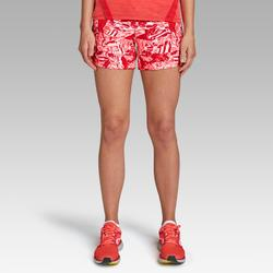 Joggingshort voor dames Run Dry print koraalrood