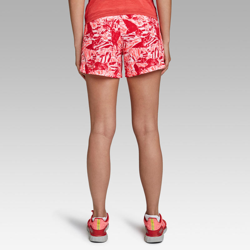 SHORT RUNNING MUJER RUN DRY ESTAMPADO CORAL