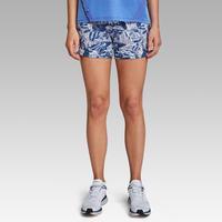 WOMEN'S RUN DRY RUNNING SHORTS - BLUE PRINT