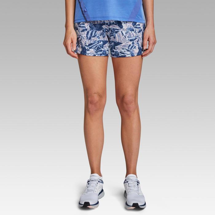 Hardloopshort voor dames Run Dry Print blauw