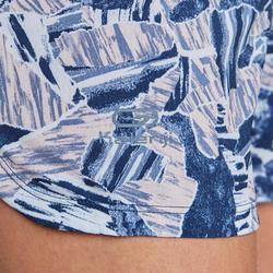 女款跑步短褲RUN DRY - 藍色印花