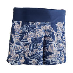 WOMEN'S RUN DRY RUNNING SHORTS - BLUE PRINT
