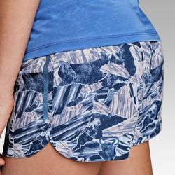 Pantalón Corto Deportivo Running Kalenji Run Dry Mujer Estampado Azul