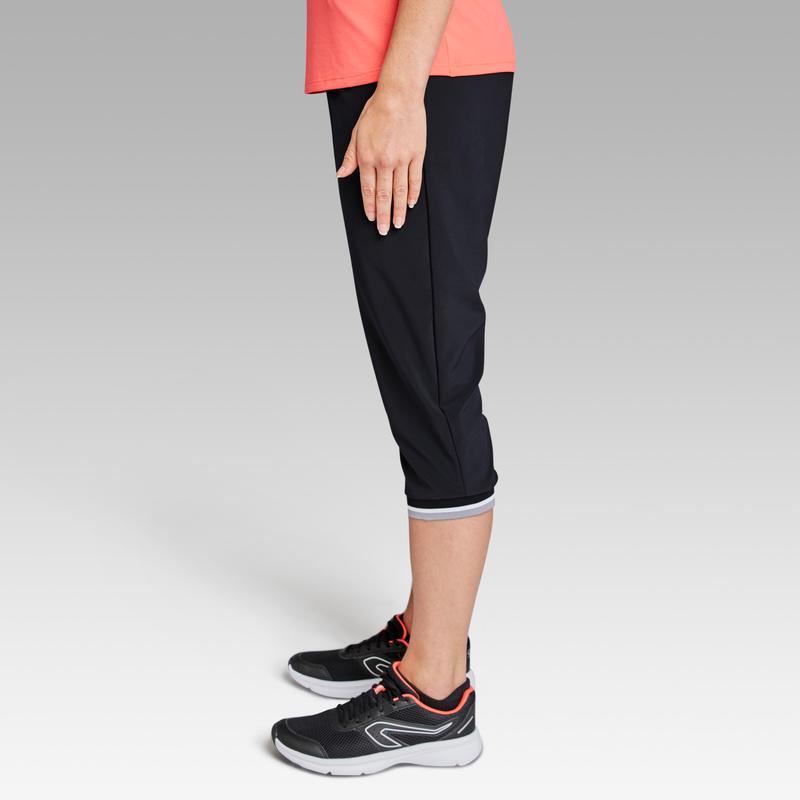 กางเกงขาส่วนผู้หญิงสำหรับใส่วิ่งรุ่น Run Dry (สีดำ)