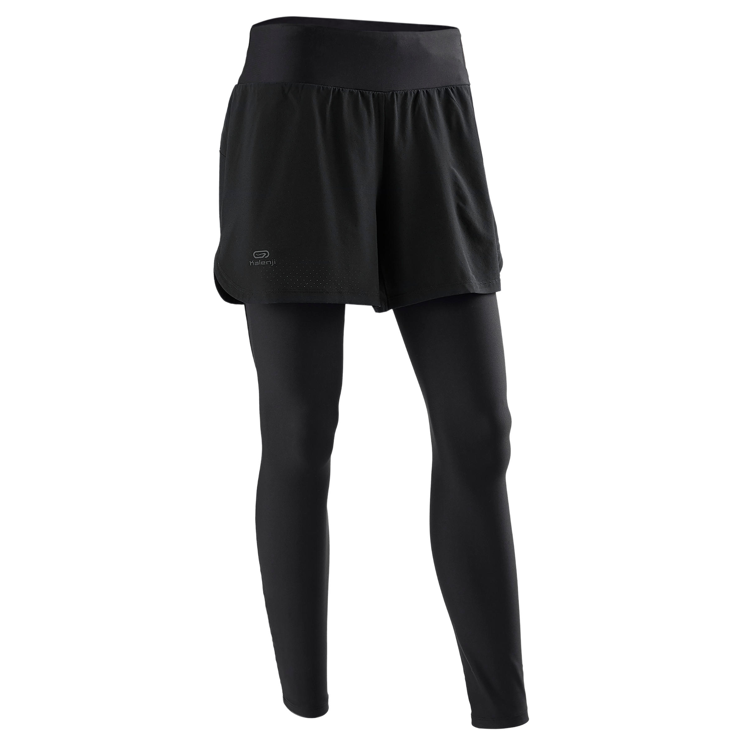 MALLAS SHORT 2 EN 1 RUNNING MUJER RUN DRY+ NEGRO