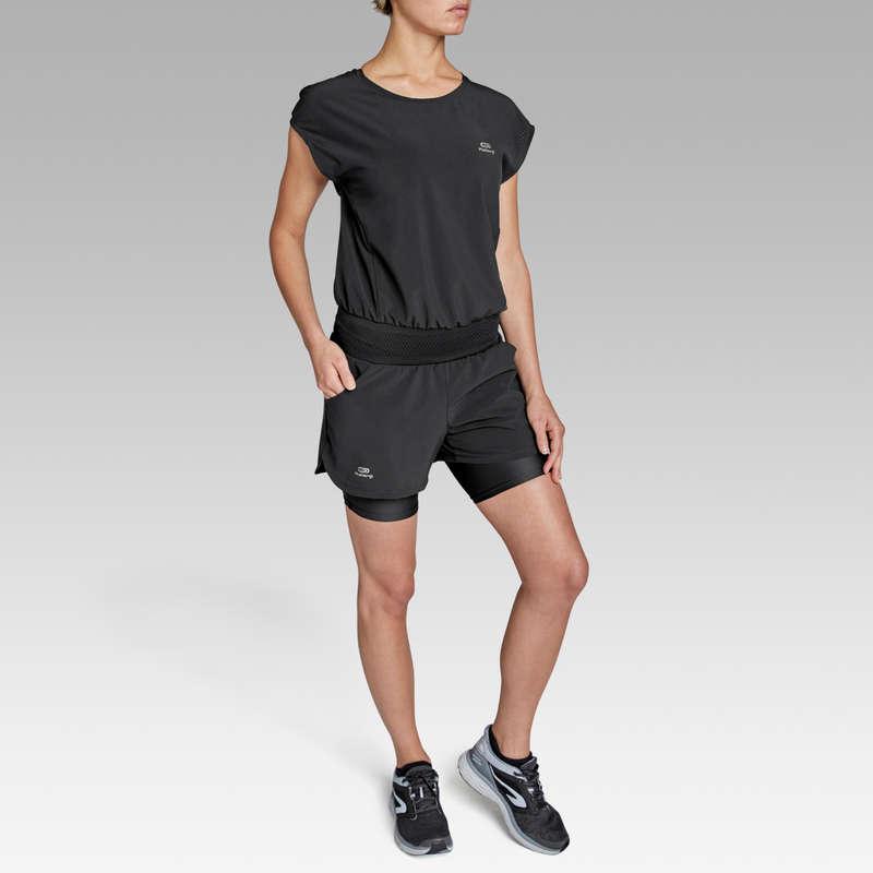 KADIN DÜZENLİ KOŞU SICAK HAVA GİYİM Koşu - RUN DRY+ ŞORT TULUM  KALENJI - Kadın Koşu Kıyafetleri