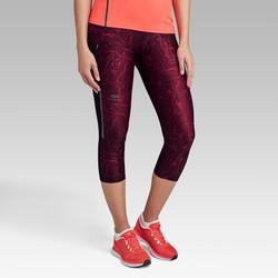 Laufhose 3/4 Tights Run Dry+ Damen bordeaux