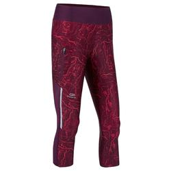 Dames kuitbroek voor jogging Run Dry+ bordeaux