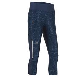 女款跑步七分褲RUN DRY+ - 深藍色