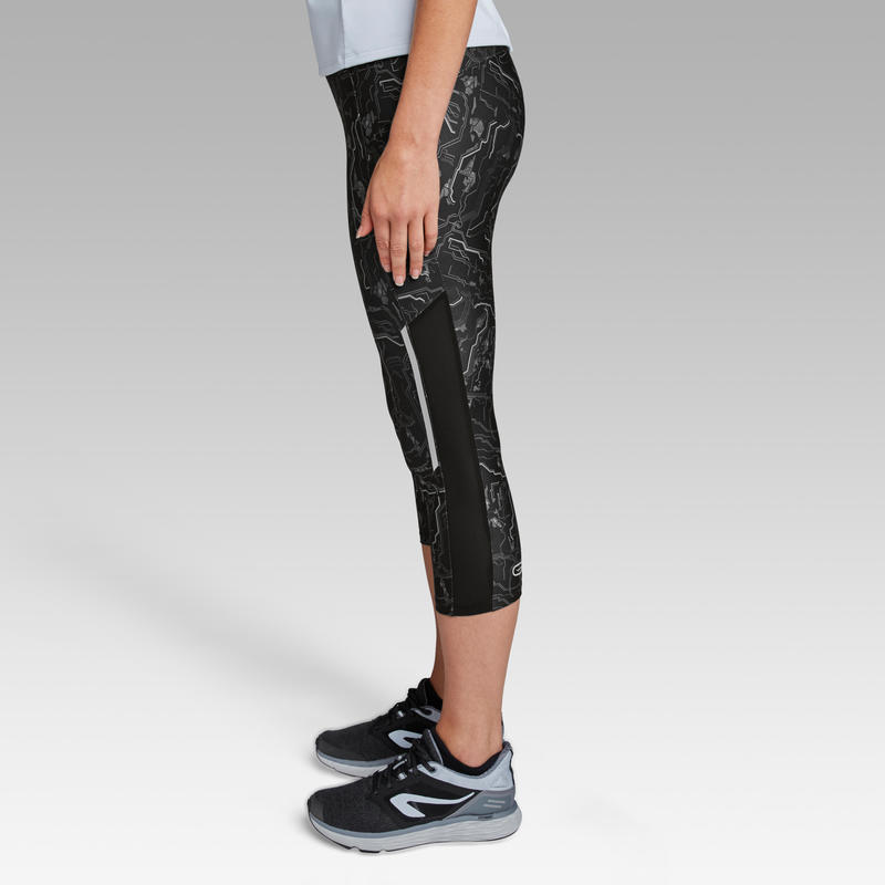 Run Dry+ Women's Running Cropped Bottoms - Black