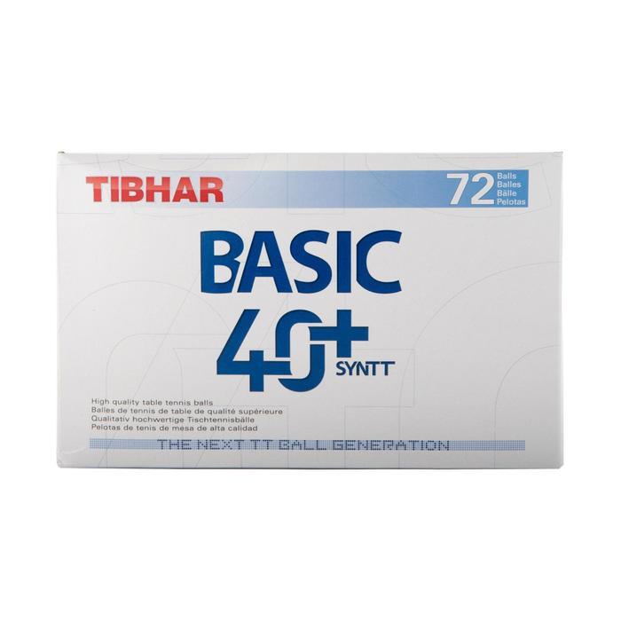 BALLES DE TENNIS DE TABLE BASIC SL 4+ X72 BLANCHES - 161239