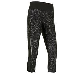 Driekwartbroek voor jogging dames Run Dry+ zwart
