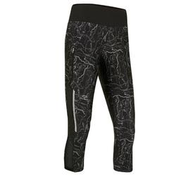 Laufhose 3/4 Tights Run Dry+ Damen schwarz